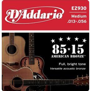 Encordoamento 013 Para Violão EZ-930 - D Addario