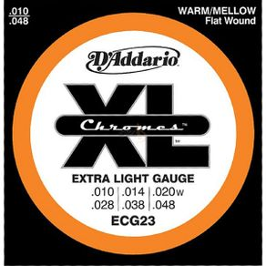 Encordoamento Chromes 010 Para Guitarra ECG-23 - D Addario