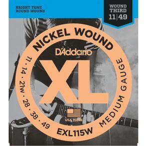 Encordoamento Nickel 011 Para Guitarra EXL-115W - D Addario