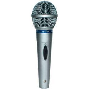 Microfone Leson MC200 Microfone Vocal Com Fio MC-200 Prata - Leson