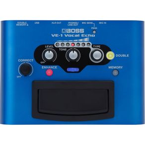 Pedal Boss VE1 Pedal Com Tipos 7 Tipos Diferentes de Efeitos Vocal Echo VE-1 - Boss