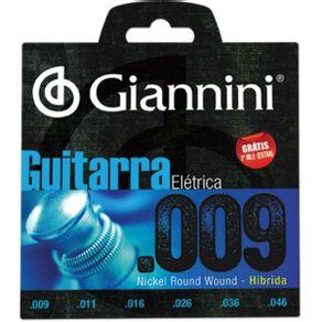 Encordoamento De Guitarra Híbrida 0.009 GEEGSTH-9 - Giannini