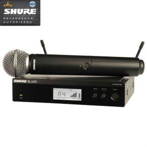 Microfone Shure - BLX24RBR SM58 M15 Microfone Sem Fio De Mão BLX-24RBR/SM58 M15 - Shure