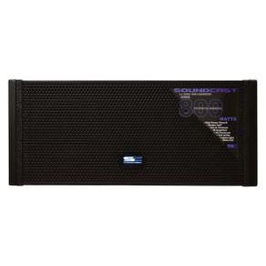 Line Array Soundcast LA 2600A Caixa Acústica Line Array Ativa 800W LA-2600 BK - Soundcast