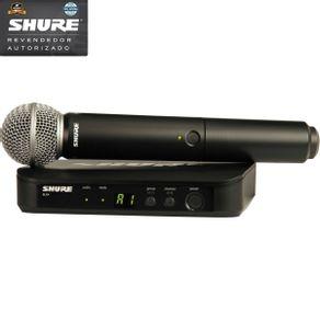 Microfone Shure - BLX24BR SM58 J10 Sistema De Microfone Sem Fio De Mão BLX-24BR/SM-58 J10 - Shure